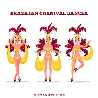 Brasilianische karnevalstänzer