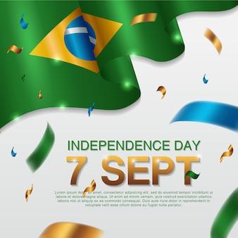 Brasilianische unabhängigkeitstag poster