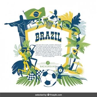 Brasilianischen kultur badge