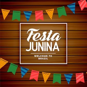 Brasilianischer juni-feiertagshintergrund festa junina