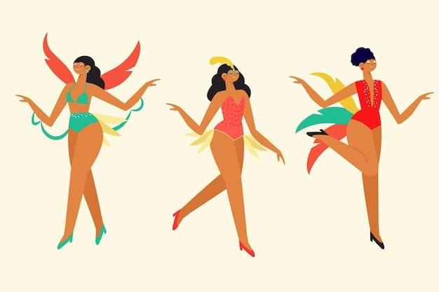Brasilianischer karneval der tanzenleute, der eine gute zeit hat