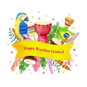 Brasilianischer karneval des aquarells