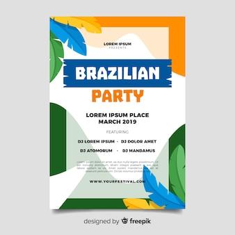 Brasilianischer Karneval-Flyer