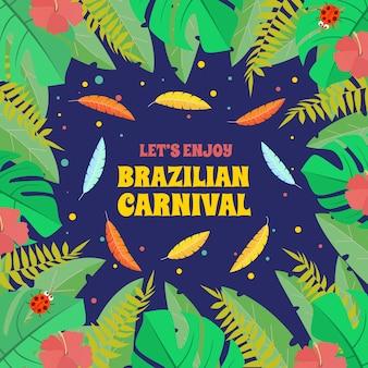 Brasilianischer karneval mit flachem design