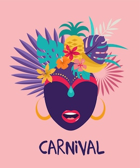Brasilianischer karneval, musikfestival, maskerade