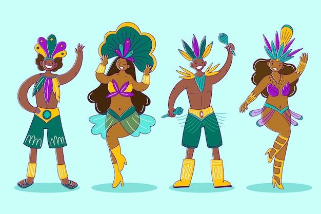 Brasilianischer karneval tänzer pack