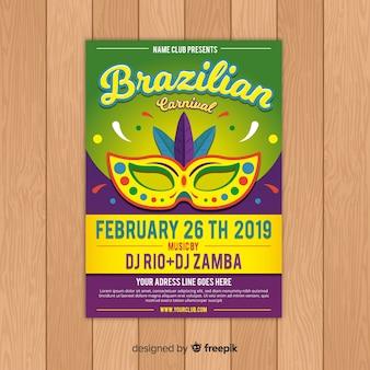 Brasilianischer karnevals-partyflieger