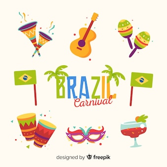Brasilianischer karnevalselementsatz