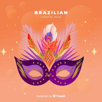 Brasilianischer karnevalshintergrund der realistischen maske