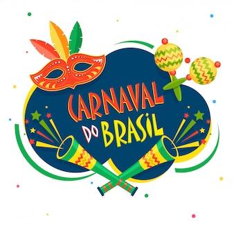 Brasilianischer karnevalshintergrund.