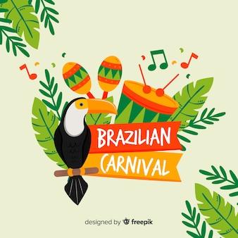 Brasilianischer karnevalshintergrund