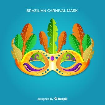 Brasilianischer karnevalsmaskenhintergrund