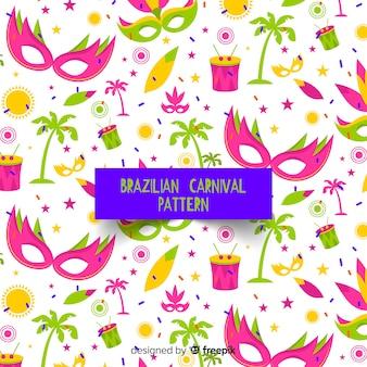 Brasilianischer karnevalsmuster