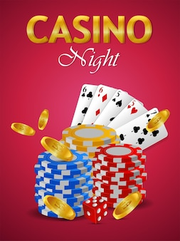 Brasilianisches ereignis der kasinoeinladung mit kreativer spielkarte