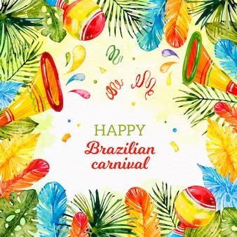 Brasilianisches karnevalskonzept des aquarells