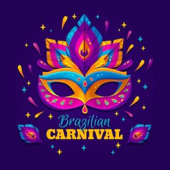 Brasilianisches karnevalskonzept des flachen designs