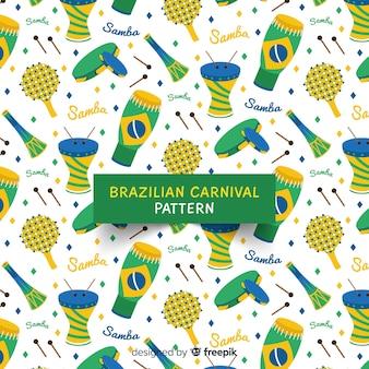 Brasilianisches karnevalsmuster der instrumente