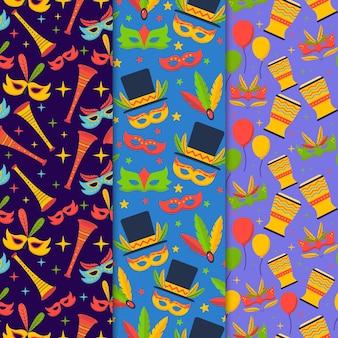 Brasilianisches karnevalsmuster im flachen design