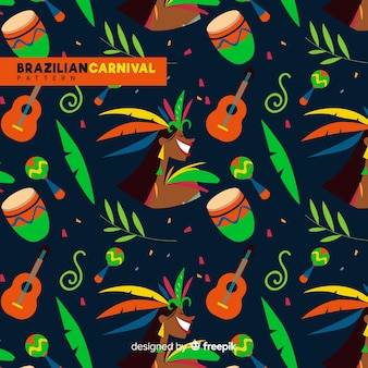Brasilianisches karnevalsmuster