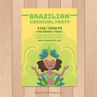 Brasilianisches karnevalspartyplakat