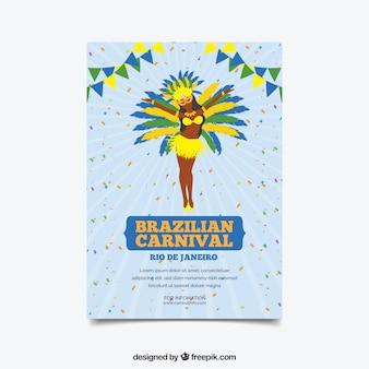 Brasilianisches karnevalsplakat