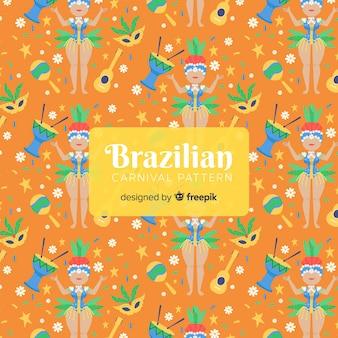 Brasilianisches karnevalstänzermuster