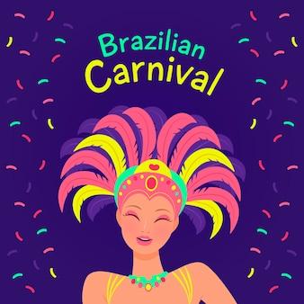 Brasilianisches karnevalsthema