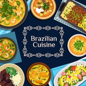 Brasilianisches küchenplakat