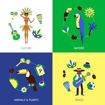 Brasilien-design-konzept