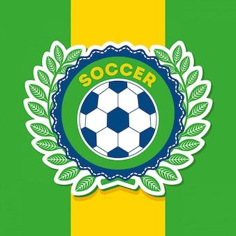 Brasilien-design über flagge hintergrund vektor-illustration