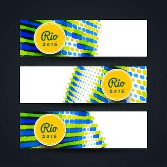 Brasilien farbe thema banner
