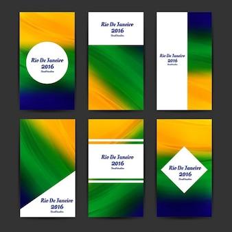 Brasilien farben business-vorlagen