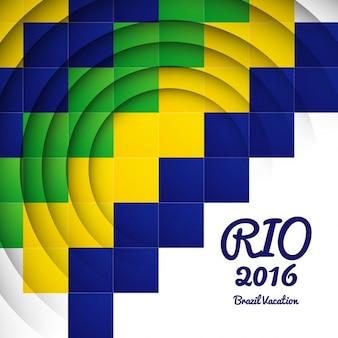 Brasilien farben mosaik-hintergrund
