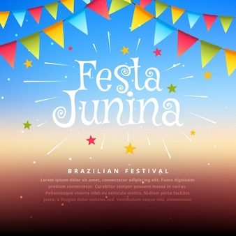 Brasilien festival festa junina illustration