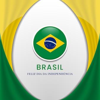 Brasilien-flaggenhintergrundkonzept für brasilien-unabhängigkeitstagillustration