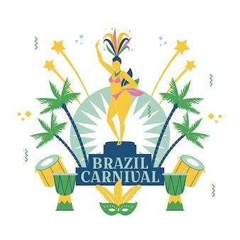 Brasilien hintergrund mit christus der erlöser
