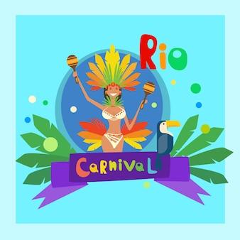 Brasilien-karneval bunte rio holiday party-feier