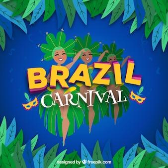 Brasilien karneval hintergrund mit tänzern