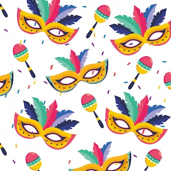 Brasilien karneval illustration