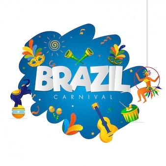 Brasilien karneval party hintergrund.