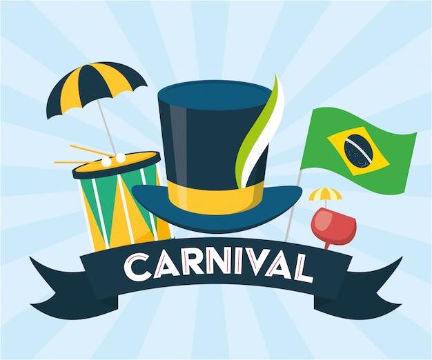 Brasilien-karnevalsfestivalhintergrund