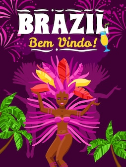 Brasilien-karnevalsplakat