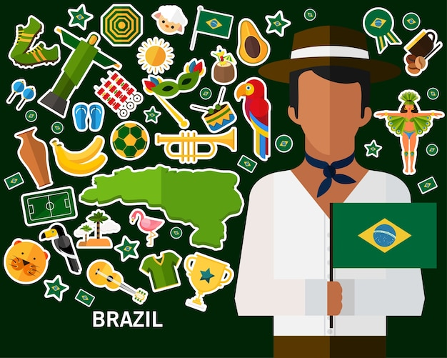 Brasilien-konzept hintergrund