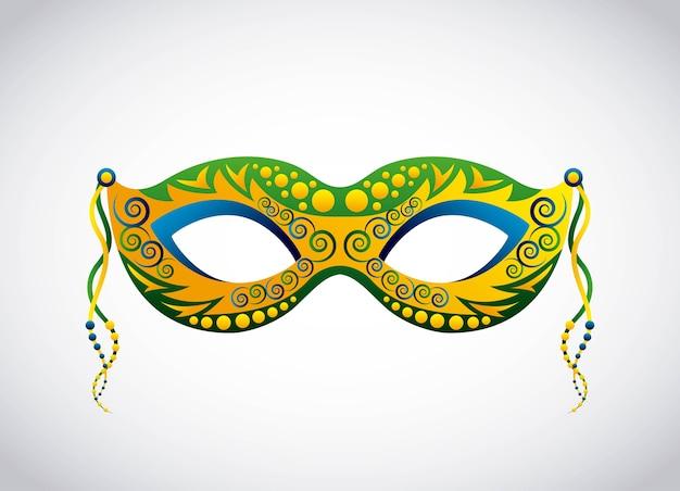 Brasilien maske design