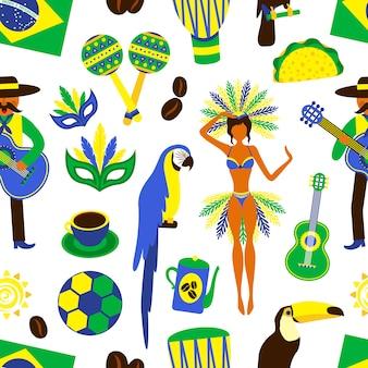 Brasilien nahtlose muster