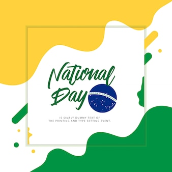 Brasilien national day illustration