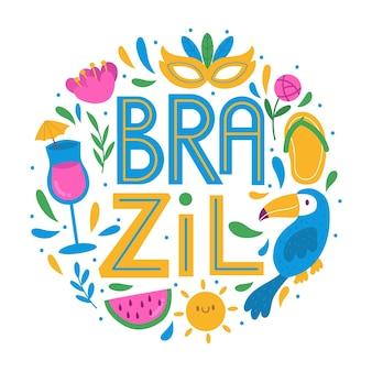 Brasilien stadt schriftzug