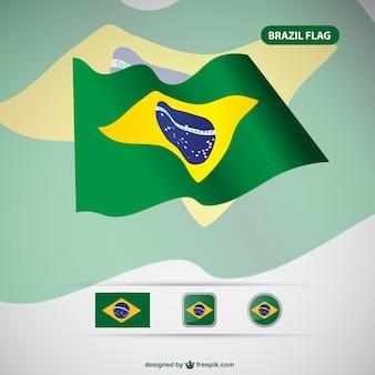 Brasilien vektor-flag kostenlos