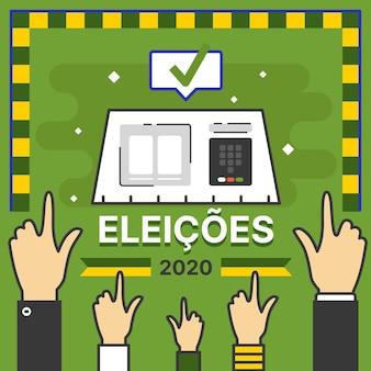 Brasilien wahlen 2020 illustration