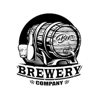 Brauerei bier logo vektor